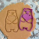 Bear and heart cookie cutter