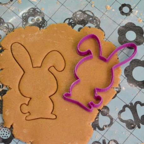 Funny Rabbit cookie cutter- Rounded