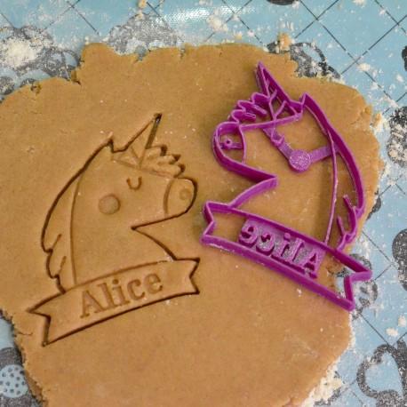 Custom Unicorn cookie cutter