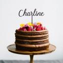 Décoration de gâteau Prénom (personnalisable) XL - Modèle Charline - Cake Topper