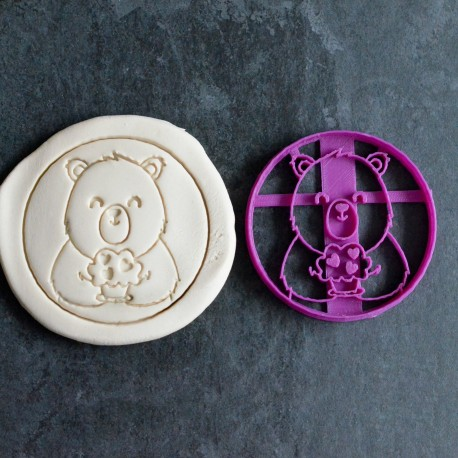 Bear and muffin cookie cutter