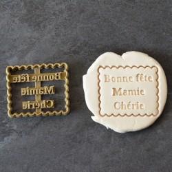 """Petit Beurre """"Bonne fête Mamie"""" cookie cutter"""