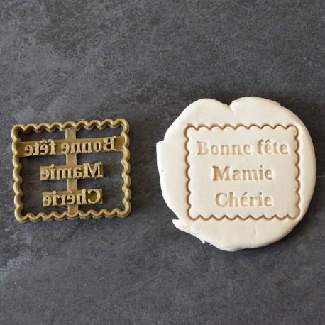 Emporte-pièce Petit Beurre Bonne fête Mamie
