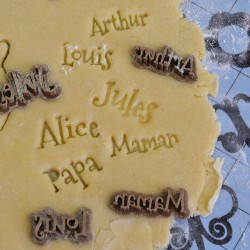 Stamp custom cookie cutter Name Circus - Personalized