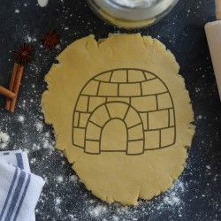 Igloo cookie cutter