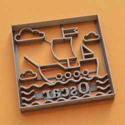 Custom Boat cookie cutter