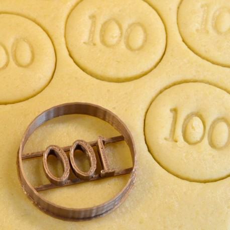 100 Numbers cookie cutter - Circle