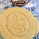 Swan cookie cutter - Custom cookie cutter with name