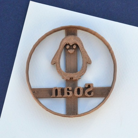 Penguin cookie cutter - Custom with name