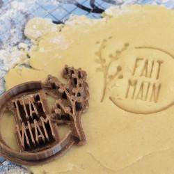 Cookie stamp Fait Main flower