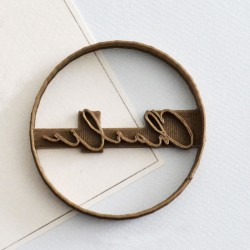 Circle custom cookie cutter Name V2 - Personalized