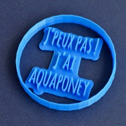 Aquaponey cookie stamp and cutter