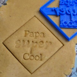 Papa Super Cool cookie cutter