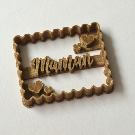 """Petit Beurre """"Maman"""" cookie cutter"""
