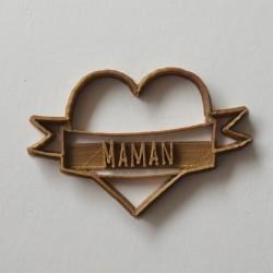 Maman Tattoo heart cookie cutter