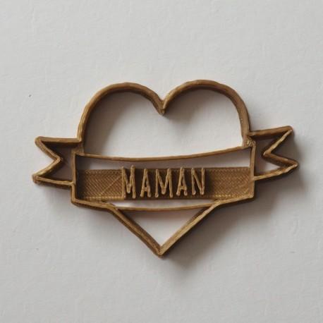 Emporte-pièce Coeur Tattoo Maman
