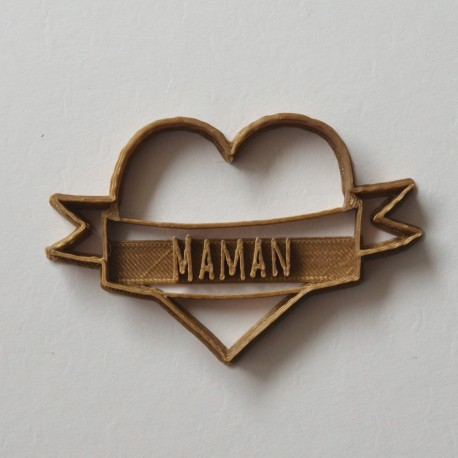Maman Tattoo heart cookie cutter