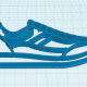 Sneakers cookie cutter