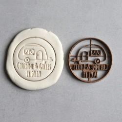 Emporte-pièce Roulotte et Prénom (Personnalisable)