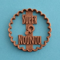 """Nounou en Or"" cookie cutter - Nurse"
