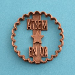 """Atsem en Or"" cookie cutter - Nurse"