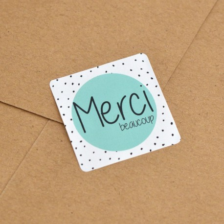 """Merci beaucoup"" stickers for Candy bags"