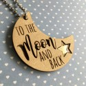 To the Moon and back Key ring