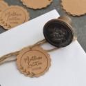 Custom flower wreath stamp