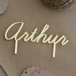 Custom Cake Topper - Gold or Silver Mirror