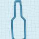 Bottle cookie cutter - 10 cm