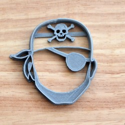 Pirate head cookie cutter