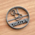 Custom Pirate Hook cookie cutter with name