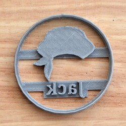 Custom Pirate Hat cookie cutter with name