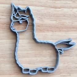 Llama-Corn cookie cutter