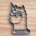 Llama-Corn cookie cutter with name