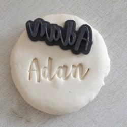 Stamp custom cookie cutter Name - Personalized - Adan design
