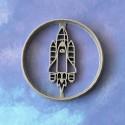 Spaceship cookie cutter