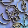 Set of 6 Space cookie cutters