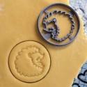 Hedgehog cookie cutter circle
