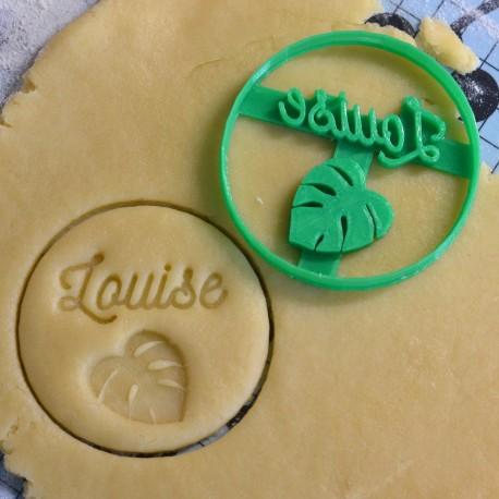Custom Monstera leaf cookie cutter