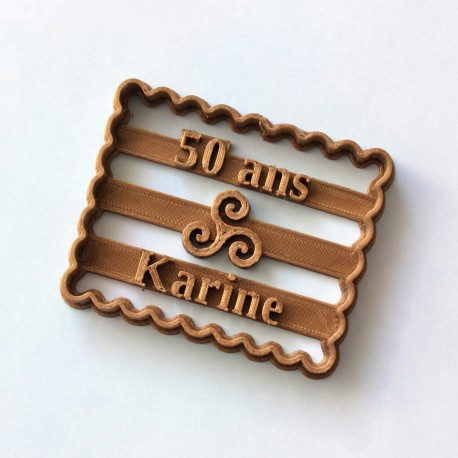 Petit Beurre Custom cookie cutter with name and Triskel - Personalized