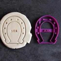 Custom Horseshoe cookie cutter - Personalized