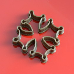 Occitane cross cookie cutter - Contour