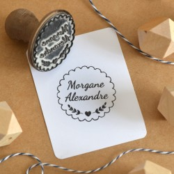 Custom scallop stamp