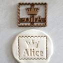 Petit Beurre Custom cookie cutter with name and crown - Personalized
