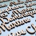 Custom Wood Tag - with name