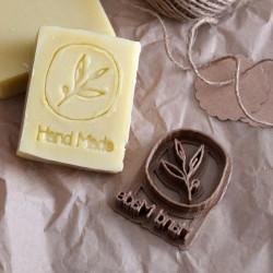 Tampon à biscuit branche Handmade