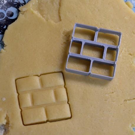 Super Mario's brick cookie cutter