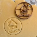 Custom House cookie cutter with name
