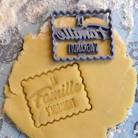"Petit Beurre ""Famille"" cookie cutter - Pregnancy"